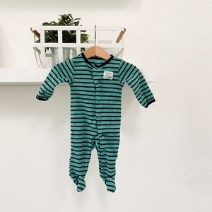 STRIPED PAJAMA BUTTON UP - 3 MONTHS - CARTERS